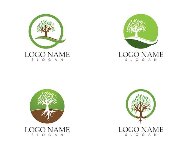 様式化された木のツリーアイコンの概念