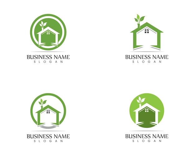 ホーム自然のロゴデザインコンセプトを構築する