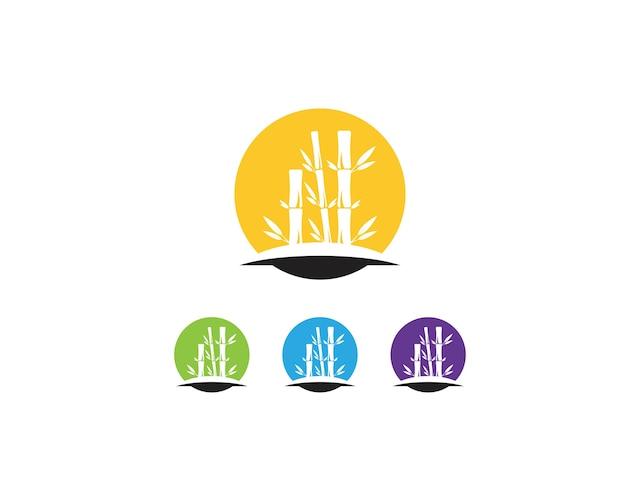 竹の葉のアイコンのロゴベクトル
