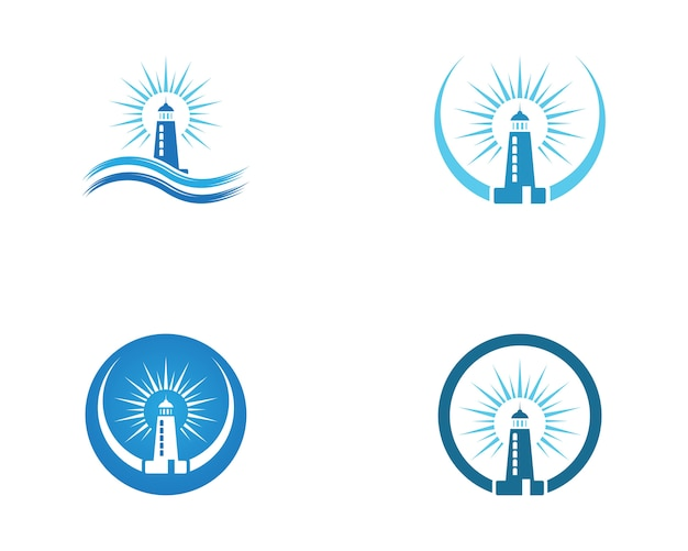 Шаблон логотипа маяка