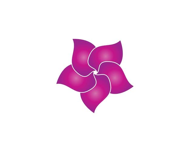 プルメリアの花の美しさのロゴ