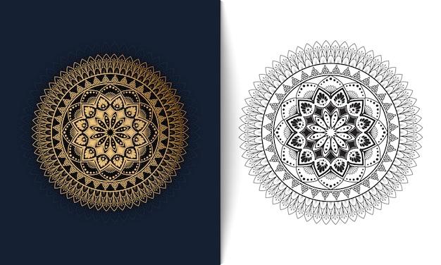 豪華な装飾的なマンダラ、東洋のパターンベクトルイラスト