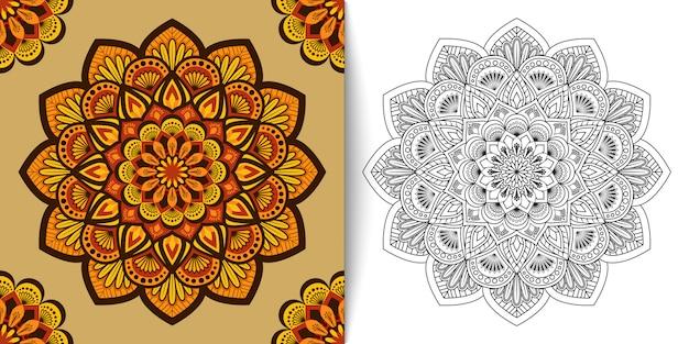 花曼荼羅、高級飾りのベクトル図