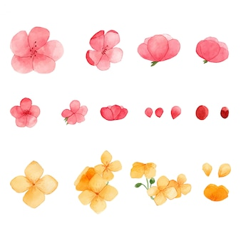 Акварель весенние цветы группа