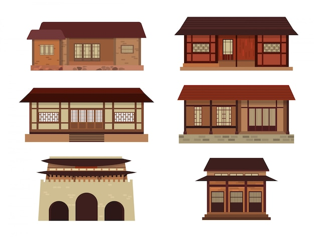 Корейская группа традиционных домов
