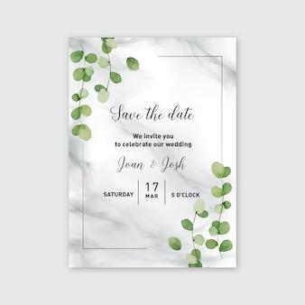 結婚式の招待状日付を保存テンプレート