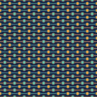 円のシームレスパターン