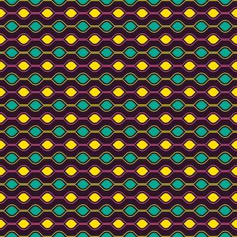 目の形のシームレスパターン