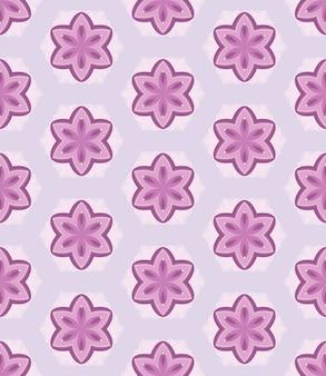 はがきのシームレスな幾何学パターンベクトル