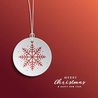 赤い背景とクリスマスと新年グレアティーカードのデザイン