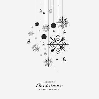 グリーティングカードとクリスマスの要素