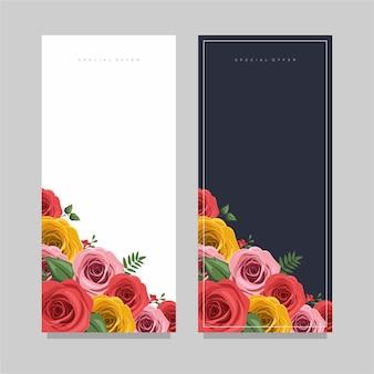 バラの背景ベクトルのイラスト