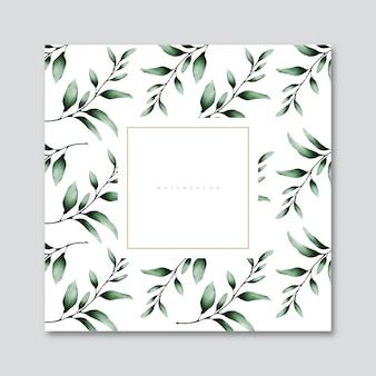 水彩画の葉カード