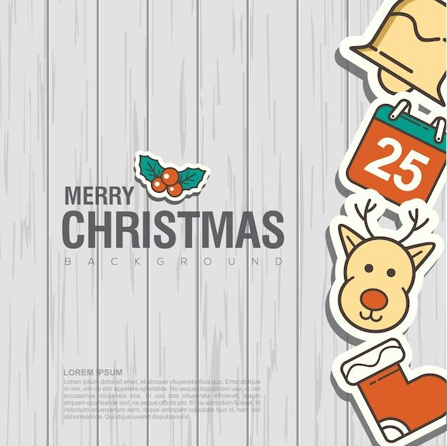 メリークリスマスの背景のデザイン