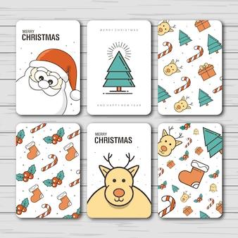 クリスマスと新年のカードデザイン