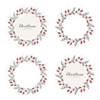 花のクリスマスのデザイン