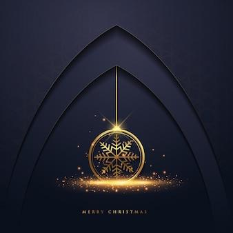クリスマスの背景とスノーフレーク