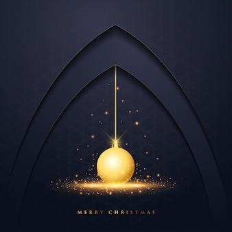 Рождественская открытка с векторным дизайном