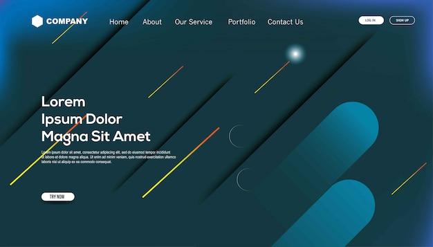 グラデーション色。ランディングページテンプレート