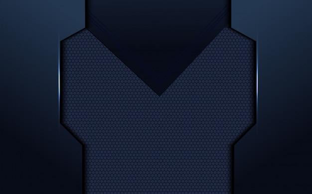 高級ブルーの抽象的な次元の背景