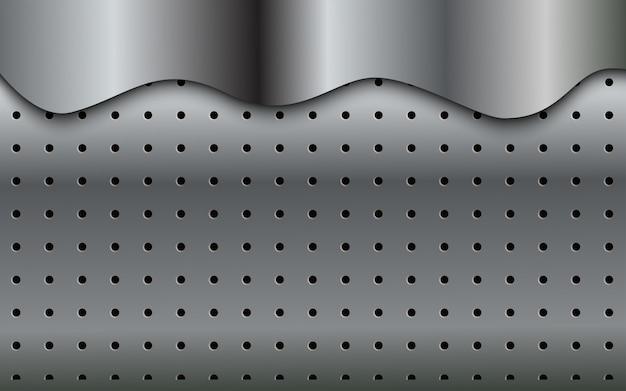 銀色の背景の抽象的な現代パターン