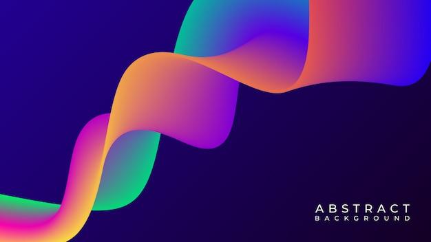 Абстрактная красочная форма жидкости в темном фоне