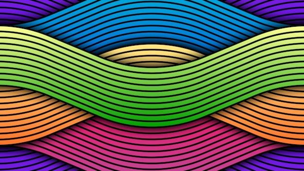 Красочный абстрактный волнистый фон