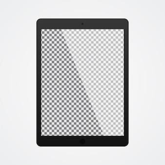 白の透明なスクリーンとモックアップ