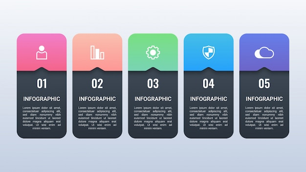 Бизнес инфографики с опциями
