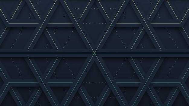 黒い幾何学模様の紙カットの背景