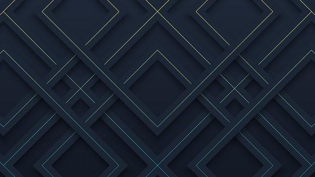 Простой черный геометрический рисунок бумаги вырезать фон
