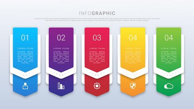 グラデーションインフォグラフィック