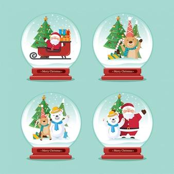 クリスマスの装飾、クリスマスの地球ベクトル