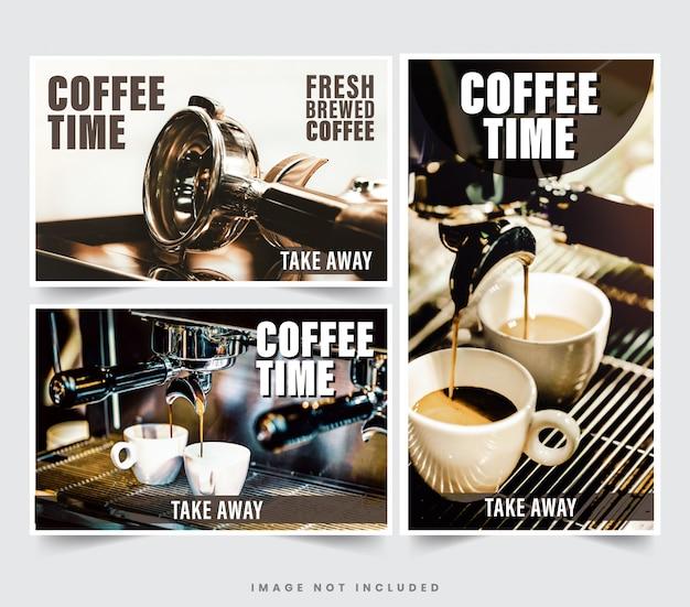 Дизайн ресторанного баннера для социальных сетей, шаблон для рекламы
