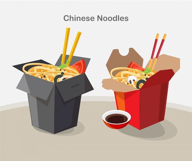 中華料理持ち帰りボックス、持ち帰りボックス麺