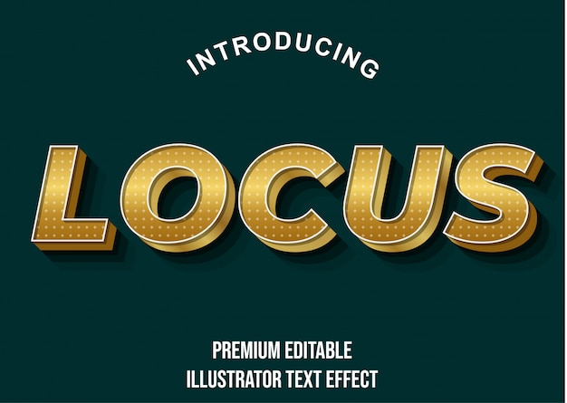 Современный золотой ретро текстовый эффект