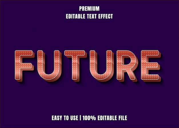 Редактируемый текстовый эффект - стиль шрифта будущего