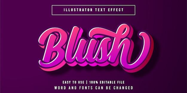 ブラッシュ編集可能なテキスト効果フォントスタイル