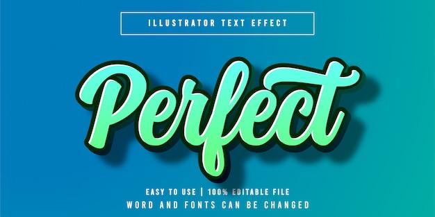 完璧な編集可能なテキスト効果フォントスタイル