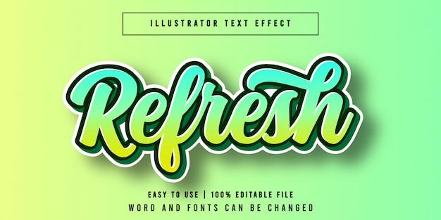 編集可能なテキスト効果のフォントスタイルを更新
