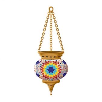 Турецкий традиционный керамический фонарь.