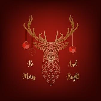 鹿のクリスマスカード