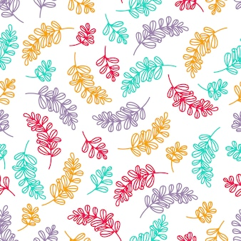 カラフルな葉パターン