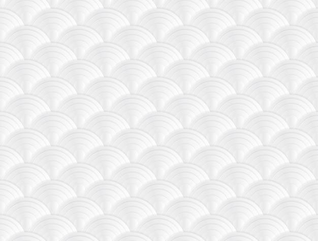 ホワイトテクスチャ背景和風ペーパーアートのベクトル図