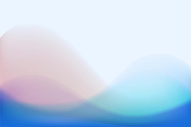 カラフルなパステル調の波の抽象的な背景