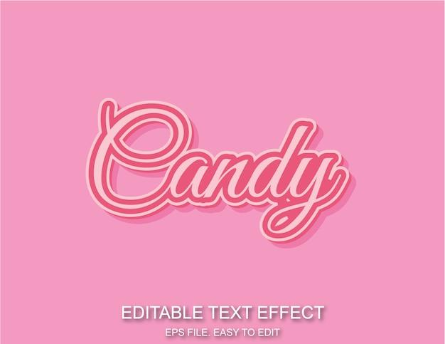 Розовый конфеты текстовый эффект модный стиль