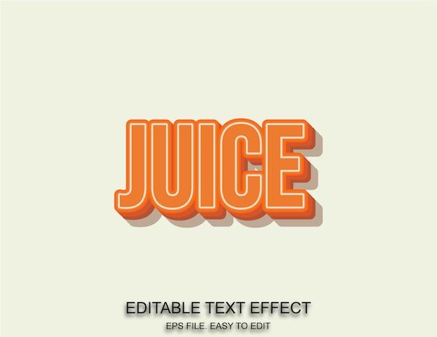 ジュースオレンジ色のテキスト効果