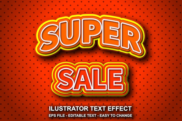 Редактируемый текстовый эффект, супер стиль продажи