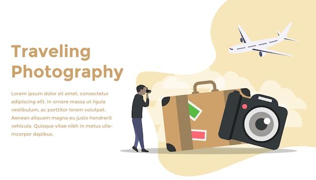 Концепция путешествующих фотографий