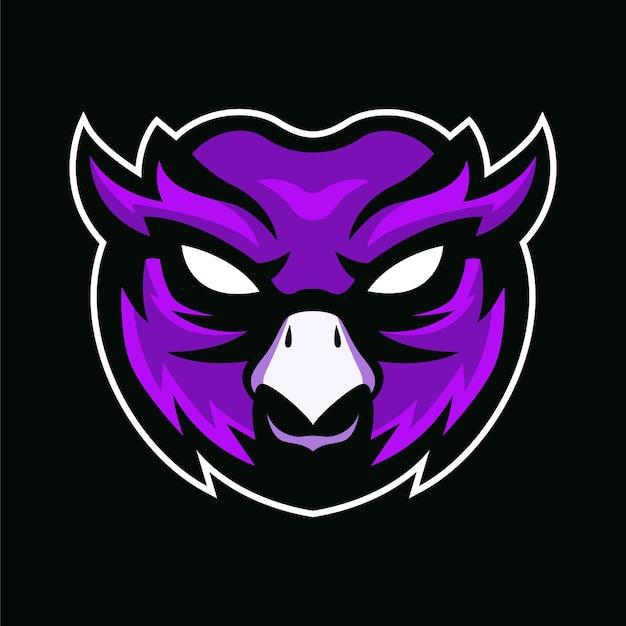 フクロウのマスコットロゴ